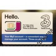 3UK 英國數據上網卡 4G 三十天 1GB 可通話及短信 (多達42個地區使用)