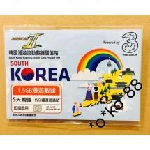 NETWORKIII 韓國 漫遊流動數據儲值卡 5天1.5GB漫遊數據