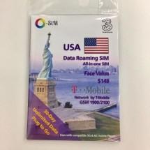 3香港 美國O-SIM 漫遊流動數據儲值卡 30天無限上網