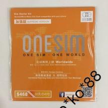 ONE SIM 全球無限上網卡 30日多個地區3G/4G無限上網