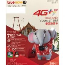truemoveH 泰國7日無限上網卡 首1.5GB 4G+速度 送100泰銖話費或短訊 送Wifi